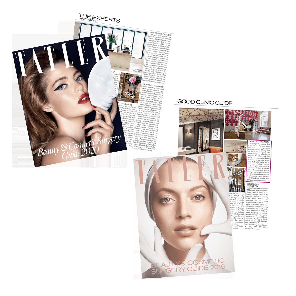 Editorial Placement, Tatler Beauty and Cosmetic Surgery Guides